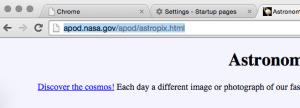 Copy the url for apod