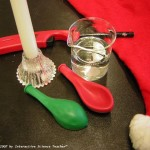 Science Christmas Experiment-Santa's magic dust
